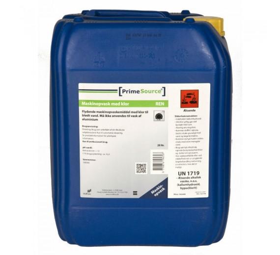 Maskinopvask Flydende Prime Source Ren, med Klor, til blødt/middel vand, 24,6 kg