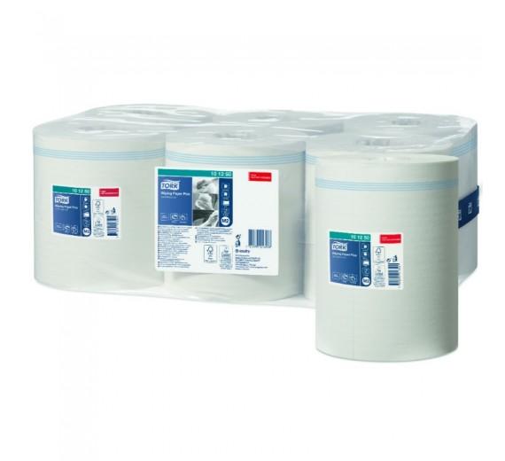 Aftørringspapir Tork Plus, M2 2-lags, 160 m x 24,5 cm, Ø 19 cm, uden hylse, hvid, 6 rl.