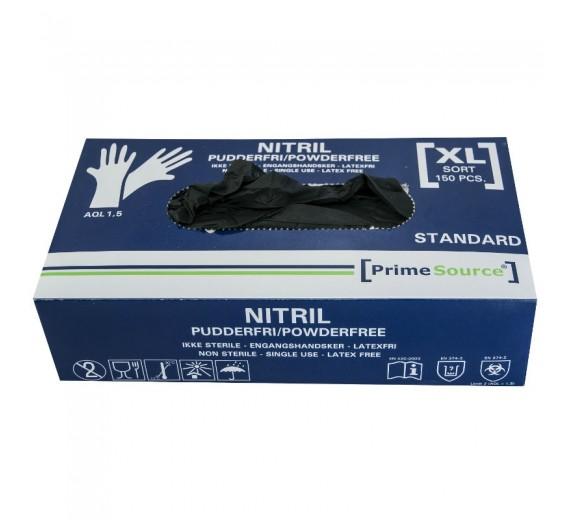 Sorte Nitril Prime Source engangshandsker, pudderfri, 150 stk.-01