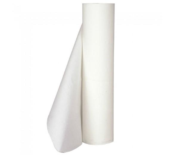 Lejepapir hvid, 2 lag nyfiber, 50 m. pr. rulle, 50 cm bred perforeret, 9 ruller