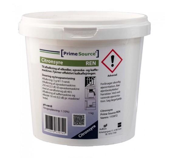 Citronsyre pulver til afkalkning, 1 kg.
