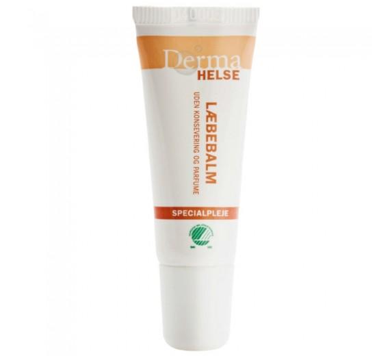 Derma Helse Læbebalm, 10 ml, uden farve og parfume
