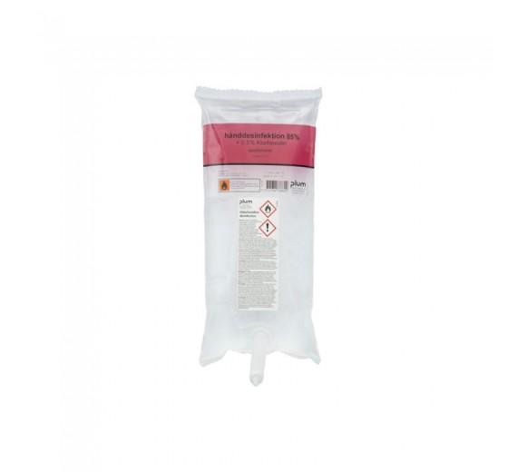 Hånddesinfektion 85% + 0,5% klorhexidin, flydende, 1000 ml. til CombiPlum dispenser.