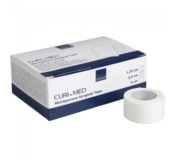 Microporous tape, Abena Curi-Med, 9,14 m x 2,5 cm, hvid, usteril