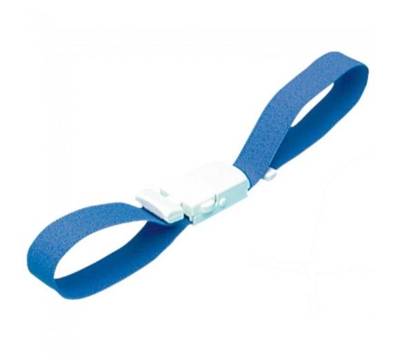 Staserem, 46 x 2 cm, blå med snaplås