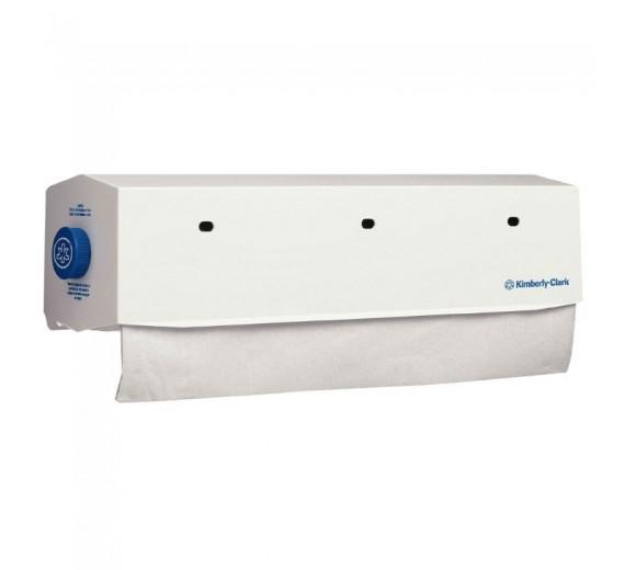 Dispenser, Kimberly-Clark, 53cm, hvid, til lejepapir med max bredde på 51 cm