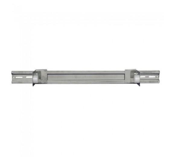 Dispenser til lejepapir, neutral, 65 cm, stål, Til lejepapir med max bredde på 60 cm.