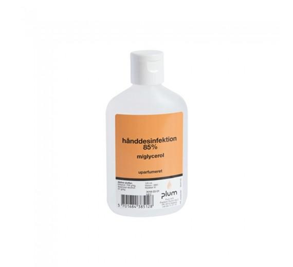 Plum hånddesinfektion 85%, flydende, 120 ml flaske.