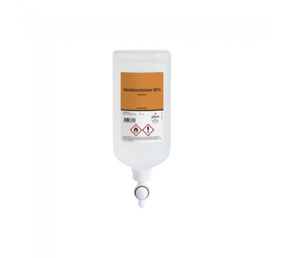 Plum hånddesinfektion 85%, flydende, 1000 ml flaske til ståldispenser
