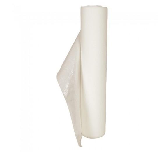 Lejepapir hvid, 65 m pr. rulle, 50 cm bred, perforeret, med PE-belægning, 6 ruller