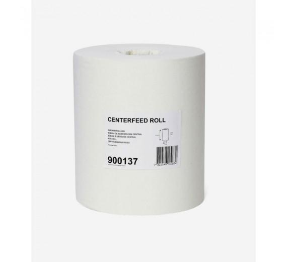 Aftørringspapir Tork Plus, M2 1-lags, 275 m x 20,5 cm, Ø 19 cm, uden hylse, natur, 6 rl.-03