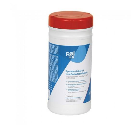 PAL TX HVIDE desinfektionsservietter med ethanol, 200 stk