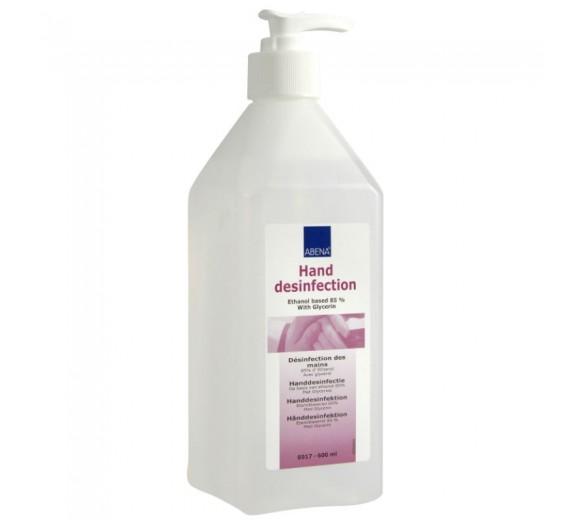 Abena hånddesinfektion 85%, flydende, 600 ml i pumpeflaske.