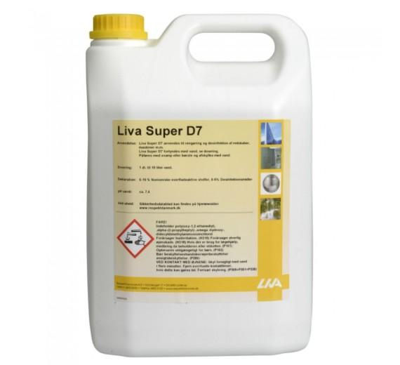 Liva Super D7 desinfektionsmiddel, 5 liter.