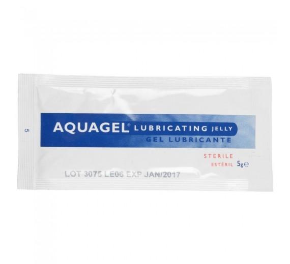 Glidegel, Aquagel, klar, steril, vandopløselig, 5g brev, 1 stk.