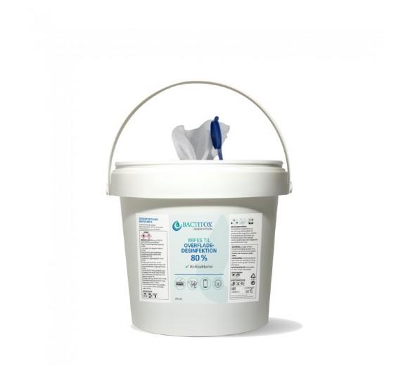 Bactitox Wipes til overflader, 80% ethanol, 300 stk.