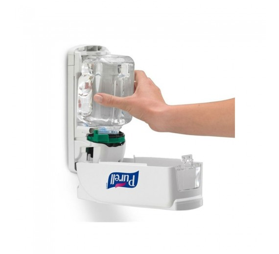 Purell ADX-7, manuel hånddesinfektionsdispenser, hvid plast, til 700 ml håndsprit refills-01