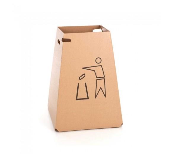 DropBucket affaldsstativ fremstillet af pap, til 100 liter sæk, med bund, 5 stk.