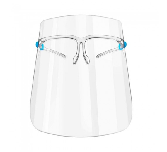 Face shield visir med brille, 1 stk.