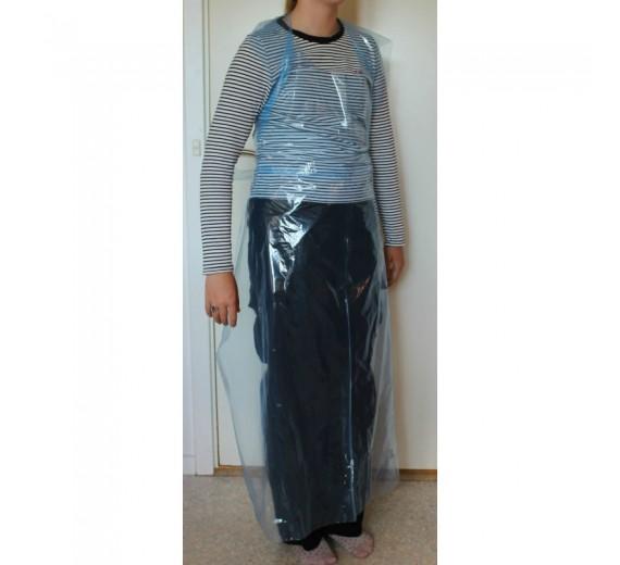 **OUTLET** Engangsforklæde, blå, 25 my, LDPE, usteril, 85 stk.