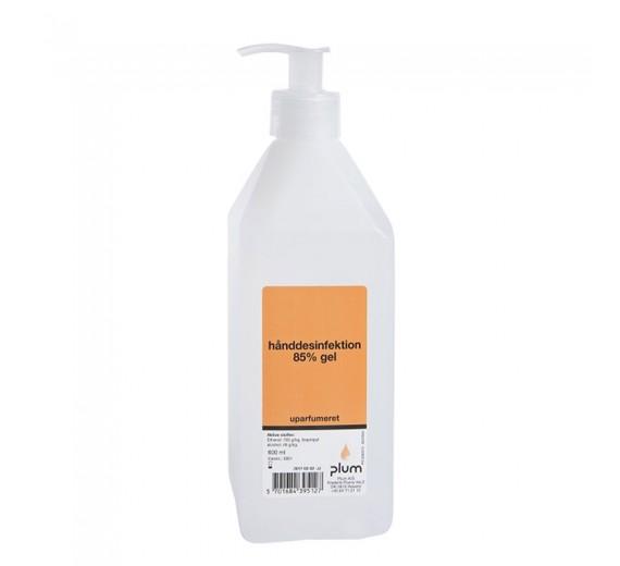 Plum hånddesinfektion 85%, gel, 600 ml pumpeflaske