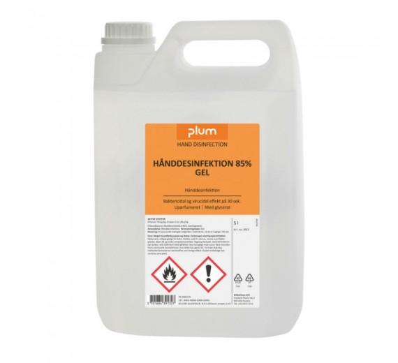 Plum hånddesinfektion 85%, gel, 5 liter dunk