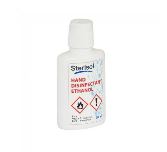 Sterisol hånddesinfektion 85% Etanol, let gel m/glycerin, 50 ml flaske.