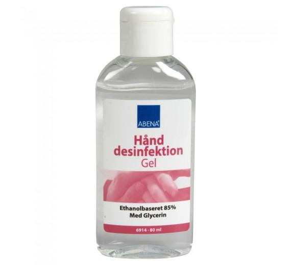 Abena hånddesinfektion 85%, gel, 80 ml i flaske.