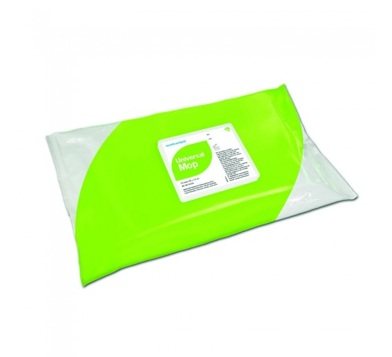 Wet Wipe Floor Mop Universal, 45 x 13 cm, pakke med 10 stykker.