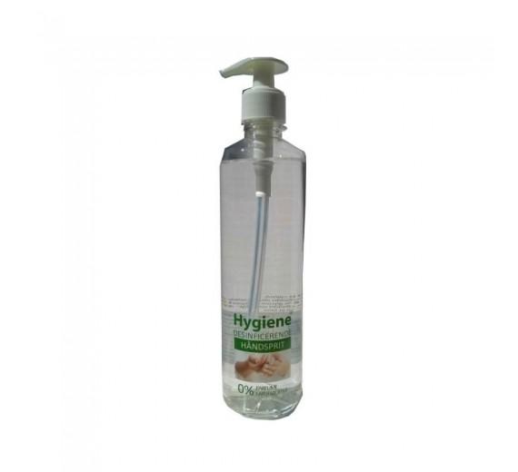 **OUTLET** Hygiene Desinficerende håndsprit med glycerin, 500 ml flaske til påfyldning