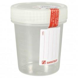 Urinprøve bæger, Sarstedt, med skrivefelt, 100 ml, steril. 5 stk.