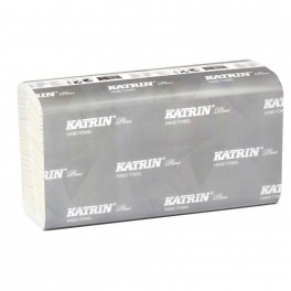 Katrin Plus håndklædeark, 2-lags, 25,5 x 20,3 cm, non stop, hvid, 100% nyfiber