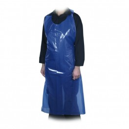 Engangsforklæde, LDPE, 18 my, blå, u/tryk, 75x125 cm, 100 stk.