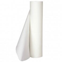 Lejepapir hvid, 2 lag nyfiber, 50 m. pr. rulle, 59 cm bred perforeret, 9 ruller