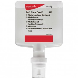 Diversey hånddesinfektion gel Soft Care Des E u/parf. til dispenser, 4 x 1,3 ltr.