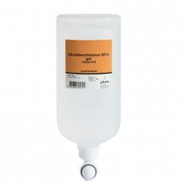 Plum hånddesinfektion 85%, gel, 1000 ml flaske til ståldispenser