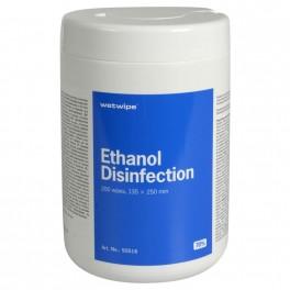Wet Wipe Jumbo, overfladedesinfektion med 70% ethanol, 13,5 x 25 cm, 200 stk.