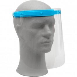 Visir, enkeltpakket, CE-godkendt, justerbar elastik, anti-dug, inkl. 3 PET-skærme