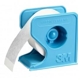 Micropore tape til fiksering. Hvid med dispenser, 1,3 cm x 9,1 m.