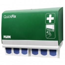 QuickFix Detectable, plasterdispenser inklusive 2 x 45 stk. sporbare blå plastre.