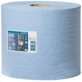 Aftørringsrulle, TORK W1/W2, ekstra kraftig 3-lags, 119m x 23,5cm, Ø26,2cm, blå, 2 rl.