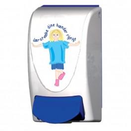Deb dispenser med børnemotiv, til håndsæbe, passer til Deb 1 ltr. refill