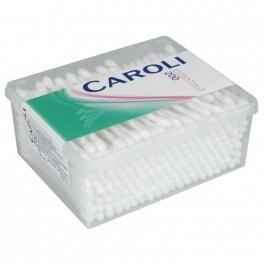 Vatpind, Caroli, 7,5 cm, hvid, vat i begge ender, usteril