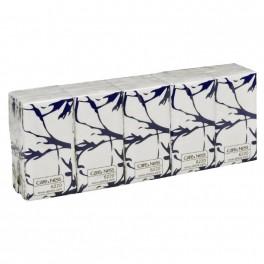 Papirlommetørklæder, Abena Care-Ness Excellent, 3-lags, 20,7 x 21cm, hvid, 100% nyfiber, 100 stk.