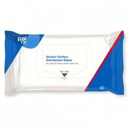 PAL TX BLÅ desinfektionswipes med ethanol, 40 stk