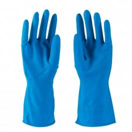 Blå Fit-On latex husholdningshandske, fødevaregodkendt, 1 par, str. Medium