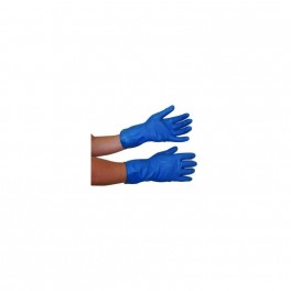Blå Fit-On handske, flergangs, fødevaregodkendt, latex, 1 par