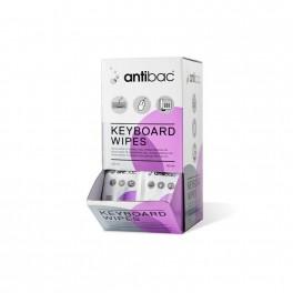 Antibac keyboard wipes, desinficerende servietter til tastaturer, med Ethanol, 80 stk.
