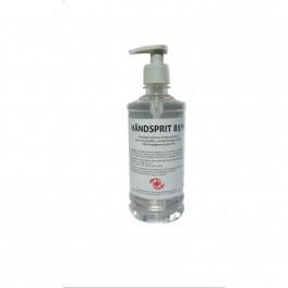 Håndsprit 85% i pumpeflaske, flydende, MedicoPart, 500 ml