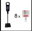 Komplet Diversey stander til hånddesinfektion, inklusive 8 x 1,3 ltr. Soft Care Des E u/parf. til dispenser